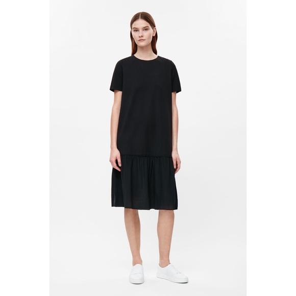 19966ed1fa NWT COS Contrast Panel Silk Jersey Dress